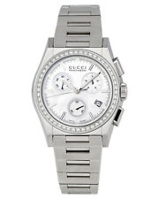 GUCCI PANTHEON DIAMOND & MOTHER OF PEARL DIAL WOMEN'S CHRONOGRAPH WATCH $5,890