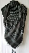 Black Bluish Gray Unisex Shemagh Head Scarf Neck Wrap Cottton Autentic Cover