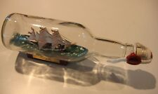 "Ship in a Bottle USCG Flagship EAGLE 91/2"" long-- Stripes and Name on Bow!"