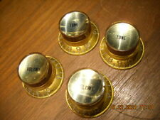 Gibson Knobs 1966 Gold Silver Inserts