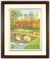 2020 Masters Augusta National Golf Poster Print Lee Wybranski Tiger Woods 🐅  ⛳️