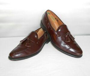 Men's Allen Edmonds Grayson Burgundy Leather Dress Loafers Size 11.5 D