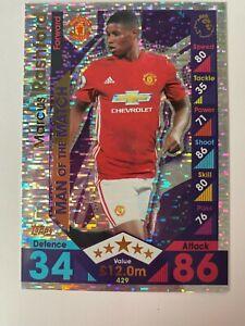 Match Attax 2016/17 Marcus Rashford Man of the Match ROOKIE Manchester United