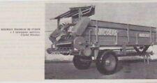 1969  --  REMORQUE EPANDEUSE DE FUMIER   NICOLAS   AUXERRE   3A634