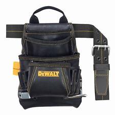 DeWalt DG5433 10 - Pocket Carpenter's Top Grain Grain Leather Nail and Tool Bag