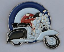 Scooter with Lights and Mod Target Enamel Pin Badge