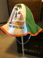 Vintage Hawaii Aloha 50th State Bucket Hat One Size Fits All