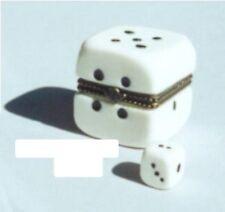 DICE-Porcelain Hinged-Box..GAMBLING & BOARD GAMES-BEAUTIFULLY SMOOTH FINISH