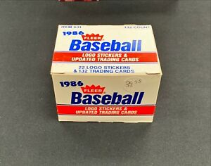 1986 Fleer Update Baseball Complete Factory Set Barry Bonds Rookie RC