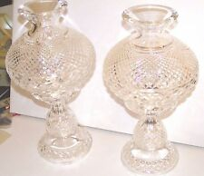 2 Waterford Crystal Hurricane Table Lamps Master Cutter Collection 1973 OrgOwner