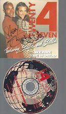 CD--TWENTY 4 SEVEN--WE ARE THE WORLD--MIT AUTOGRAMM--