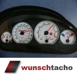 Tachoscheibe für Tacho BMW E46 Benziner *Motorsport*  310 kmh