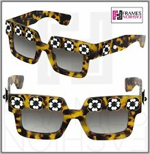 83527016a06 PRADA POEME FLOWER Chunky Square PR25PS Brown Havana Exclusive Sunglasses  25P
