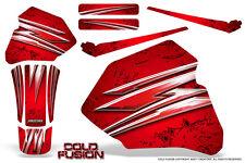 HONDA XR80 XR100 XR 80 100 1985-2000 CREATORX GRAPHICS KIT COLD FUSION RED