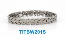 High power womens magnetic Titanium bracelet (5000 gauss magnets) Silver