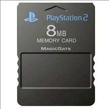 Official Original Sony PS2 Playstation 2 8mb Memory Card Black