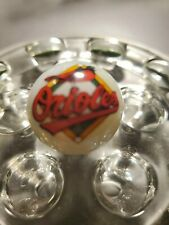 Very Nice BALTIMORE ORIOLES White Glass Marbles