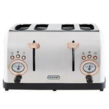 Blaupunkt Retro 4 Slice Toaster - White Kitchen Essentials Stylish Toaster