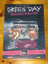 GREEN DAY -  2016  Australian Tour -  SIGNED AUTOGRAPHED  Promo  Poster