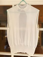 VERSACE JEANS - TOP BLANC  (Taille L IT) - EXCELLENT ETAT