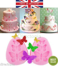 3D Butterfly Butterflies Flower Silicone Mould, Sugar Craft, Fondant, Chocolate