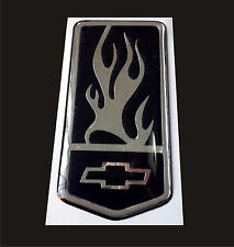 93-02 Chevrolet Camaro Z28 SS RS Front Bumper Emblem Chrome Black, Flame