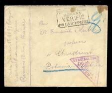 AUSTRIA WW1 BOHEMIA TRIANGULAR PoW CENSOR + BOXED TRANSLATION