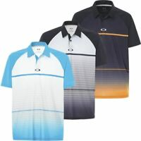 OAKLEY GOLF MENS MOTO MOISTURE WICKING FADE SHORT SLEEVE GOLF POLO SHIRT