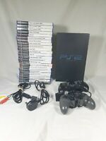 Sony Playstation 2 console 24 game bundle lots of football and shooting games