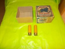 WINCHESTER NEW RIVAL12 GAUGE SHELL BOX WITH 2 EMPTY CASINGS! VERY RARE FIND!