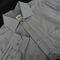 Mens Lacoste Gray Athletic Oxford Golf Dress Shirt Size EUR 44 US XL Casual