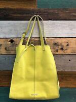 Steve Madden 2742 Womens Bnixx Yellow Shopper Handbag Purse Extra Large MSRP$158