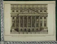 C1750 Groß Antik London Aufdruck ~ Mansion House Reception Von Lord Mayor
