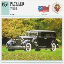 1934 PACKARD TWELVE Classic Car Photograph / Information Maxi Card