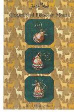 Just Nan Gingerbread Reindeer Mouse Cross Stitch Chart w Embellishments Ltd Ed