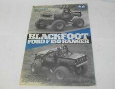 Vintage Tamiya Blackfoot Ford F150 Ranger build manual #58058 #5858
