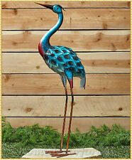 Beautiful Metal Heron Bird Garden Statue Figurine Yard Lawn Ornament Art Decor