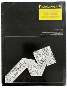 PHOTOTYPOGRAPHY 1972 Advertising Typography Photolettering Type Graphic Design