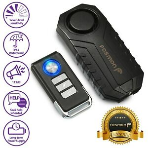 Loud 113dB Wireless Anti-Theft Vibration Motorcycle Bike Security Alarm Remote