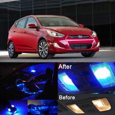 Blue LED SMD Interior Kit + Blue License Light LED For Hyundai Accent 2012-2016