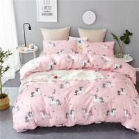 Pink Unicorn Kids Duvet Cover Quilt Cover Bedding Set Comforter Cover Pillowcase