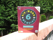 "Six-Word Memoirs ""The Incredible Game Of Six-Word Stories""~New & Factory Sealed!"