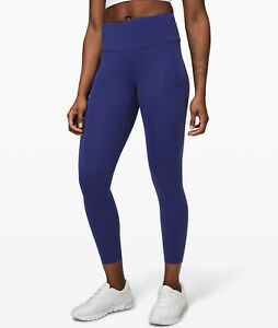 "Lululemon Fast Free High Rise Tight Crop 25""  Inseam LARKSPUR BLUE Nulux Size 10"