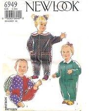 New Look Uncut Sewing Pattern # 6949 Infants Toddler Romper Size 6-36 Months