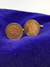 U.S. Vintage Indian Head Penny Coin Cufflinks 1990's dates