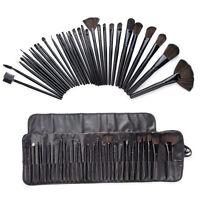 32/5 PCS Makeup Brush Cosmetic Set Kit Case + Make-up Brushes Pouch Black Blue