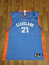 MENS XL - Vtg NBA Cleveland Cavaliers #21 Darius Miles Reebok Printed Jersey