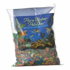 LM Pure Water Pebbles Aquarium Gravel Neon Rainbow - 2 lbs (3.1-6.3 mm Grain)