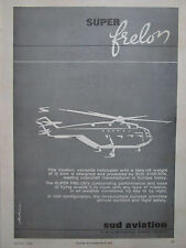 3/1965 PUB SUD AVIATION HELICOPTERE SUPER FRELON HELICOPTER ORIGINAL AD
