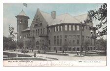 Illinois postcard Bloomington High School ca 1909